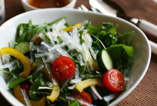 ルッコラと寒天のイタリアン風サラダ
